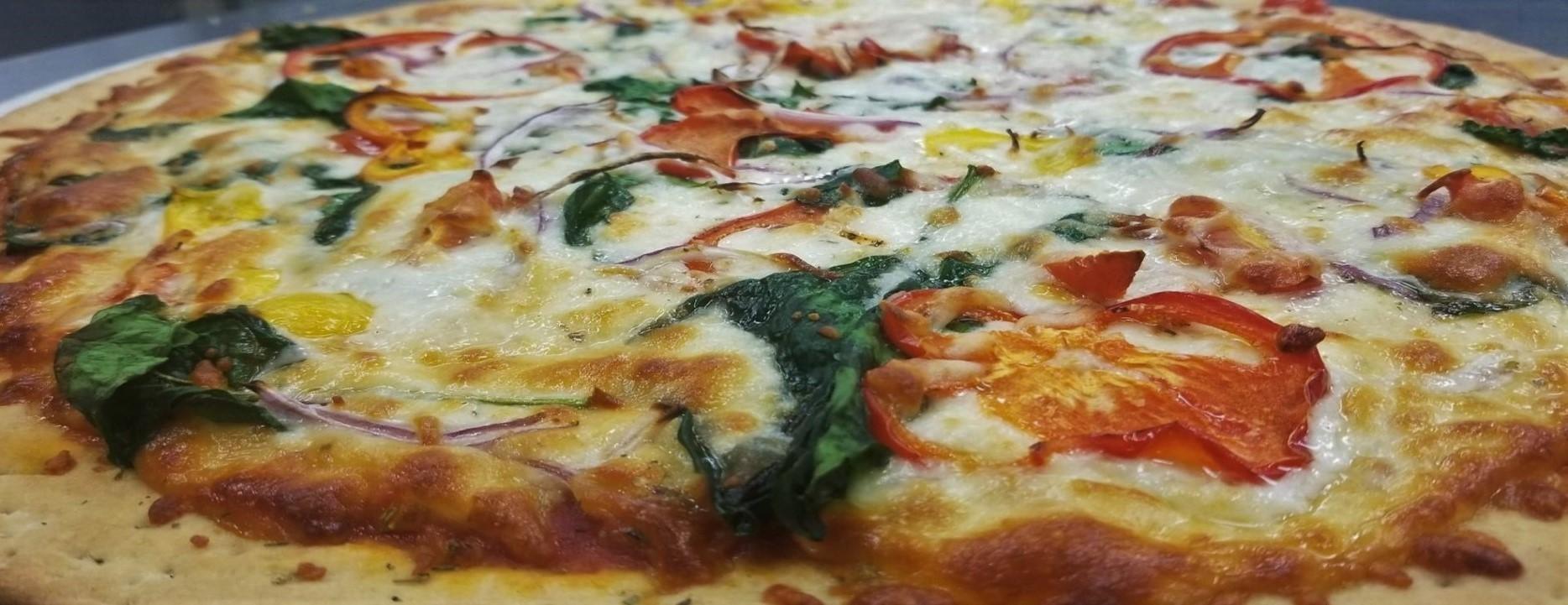 Spinach & Tomato Pizza